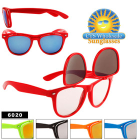 Flip Up California Classics Sunglasses by the Dozen - Style #6020 (Assorted Colors) (12 pcs.)