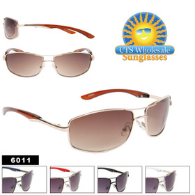 Bulk Metal Sunglasses - Style #6011 (Assorted Colors) (12pcs.)