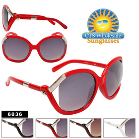 Vintage Sunglasses 6036 New Women's Style! (Assorted Colors) (12 pcs.)