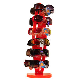 Acrylic Counter Top Rotating Sunglass Display Rack (holds 12 pair) 7036 Orange (1 pc.)