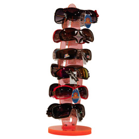 Rotating Sunglass Display Rack (holds 12 pair) 7036 Transparent Orange (1 pc.)