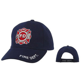 Baseball Caps Wholesale ~ Navy Blue ~ F.D. Fire Dept.