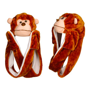 Monkey Animal Hat with Paws A109 (1 pc.)