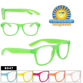 Glow In The Dark Sunglasses - California Classics Style - #8047 (Assorted Colors)  (12 pcs.)