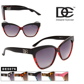 Designer DE™ Cat Eye Sunglasses Wholesale - Style # DE5076 Animal Print (Assorted Colors) (12 pcs.)