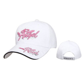 "Wholesale Baseball Cap Pink  ""ANGEL""  C529 (1 pc.) Embroidered and Embossed Lettering!"
