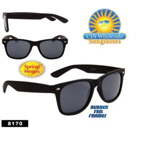 Matte Black Wholesale California Classics - Style # 8170 (12 pcs.) Spring Hinge - Rubber Frame