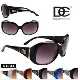 DE™ Designer Sunglasses Wholesale - Style # DE723 (Assorted Colors) (12 pcs.)