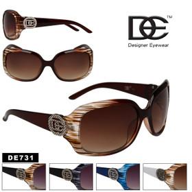 DE™ Designer Eyewear Wholesale Sunglasses - Style # DE731 (Assorted Colors) (12 pcs.)