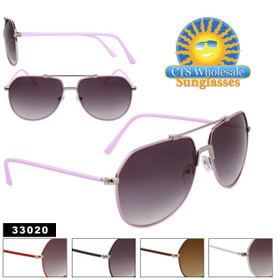 Aviator Bulk Sunglasses - Style # 33020 (Assorted Colors) (12 pcs.)