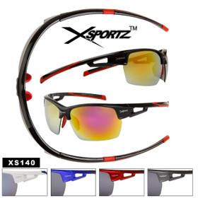 Xsportz™ Bulk Sports Sunglasses - Style # XS140 (Assorted Colors) (12 pcs.)