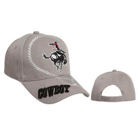 Grey Wholesale Cowboy Baseball Cap