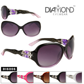 Wholesale Diamond™ Eyewear Sunglasses - DI6006 (Assorted Colors) (12 pcs.)