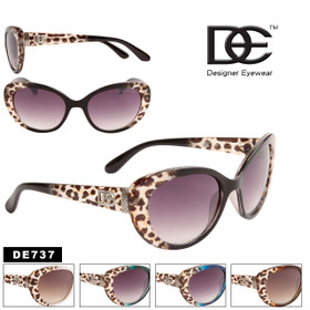 Wholesale Vintage Cat Eye Sunglasses - Style #DE737 (Assorted Colors) (12 pcs.)