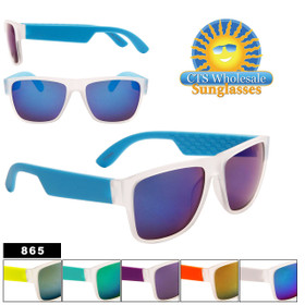 Frosted Mirrored Sunglasses Wholesale - Style #865