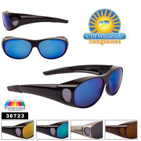 Wholesale Polarized Over Glasses Sunglasses - Style #36723 (Assorted Colors) (12 pcs.)