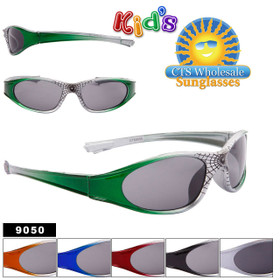Spider Web Bulk Sunglasses For Kids - Style #9050 (Assorted Colors) (12 pcs.)