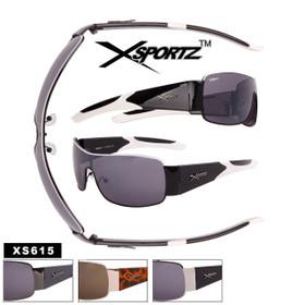 Men's Xsportz™ Single Piece Lens Sunglasses - Style #XS615 (Assorted Colors) (12 pcs.)