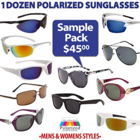 Polarized Sunglasses Sample Pack SPA-PO (Assorted Colors) (12 pcs.)