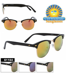 Mirrored Soho Sunglasses - Style #6110A (Assorted Colors) (12 pcs.)