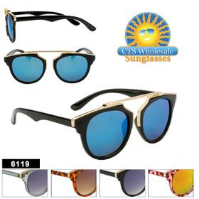 Wholesale Retro Sunglasses - Style #6119 (Assorted Colors) (12 pcs.)