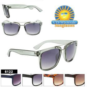 Unisex Sunglasses Wholesale- Style #6122 (Assorted Colors) (12 pcs.)