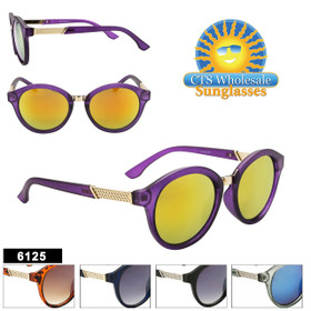 Women's Round Lens Fashion Sunglasses - Style #6125