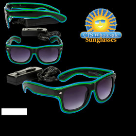 Green & Blue LED Sunglasses LS002 (1 pc.)