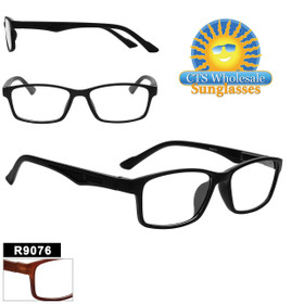 Reading Glasses Wholesale - R9076 (12 pcs.) Assorted Colors ~ Lens Strengths +1.00—+3.50