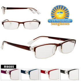 Reading Glasses Wholesale - R9085 (12 pcs.) Assorted Colors ~ Lens Strengths +1.00—+3.50