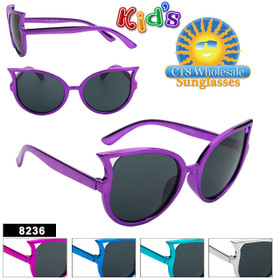 Girl's Wholesale Sunglasses - Style #8236 (Assorted Colors) (12 pcs.)