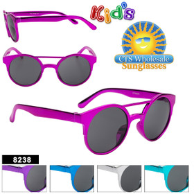 Wholesale Girl's Sunglasses - Style #8238 (Assorted Colors) (12 pcs.)