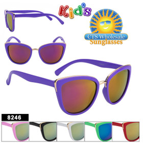 Girl's Wholesale Sunglasses - Style #8246 (Assorted Colors) (12 pcs.)