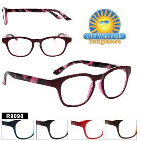 Bulk Readers - R9090 (12 pcs.) Assorted Colors ~ Lens Strengths +1.00—+3.50