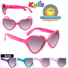 Wholesale Kid's Heart Sunglasses - Style #8235