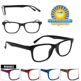 Bulk Readers - R9063 (12 pcs.) Assorted Colors ~ Lens Strengths +1.00—+3.50
