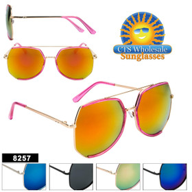 Wholesale Mirrored Sunglasses - Style #8257