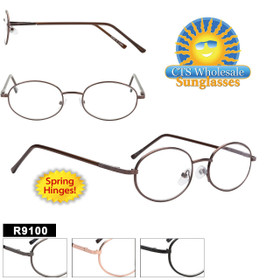 Wholesale Readers - R9100 Spring Hinges! (12 pcs.) Assorted Colors ~ Lens Strengths +1.00—+3.50
