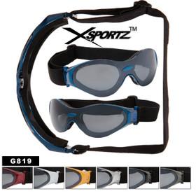 Wholesale Biker Goggles G819 Foam Padded Interior Frames (Assorted Colors) (12 pcs.)