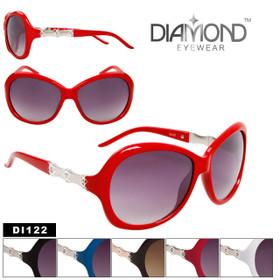 Diamond Eyewear Rhinestone Sunglasses - Style DI122 (Assorted Colors) (12 pcs.)
