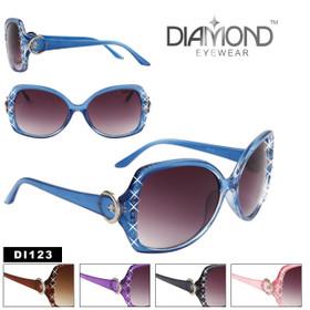 Women's Rhinestone Sunglasses by the Dozen DI123 (Assorted Colors) (12 pcs.)