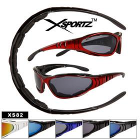Xsportz™ Sports Bulk Sunglasses - Style # XS82 Foam Padded Interior