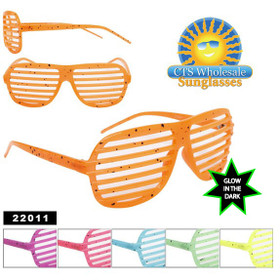 Shutter Shades Splatter Paint ~ Glow in the Dark Frames 22011 (Assorted Colors) (12 pcs.)
