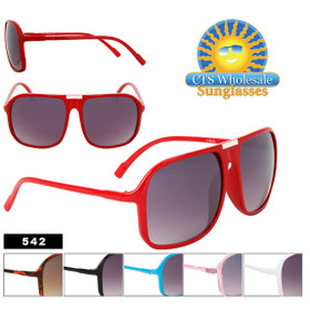 Fashion Sunglasses Wholesale 542 (Assorted Colors) (12 pcs.)