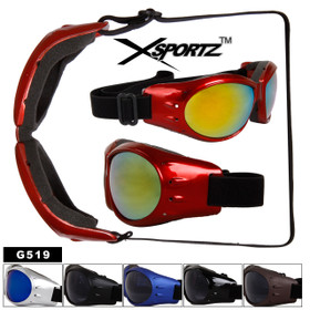 Goggles Style Foam Padded Inside G519 (Assorted Colors) (12 pcs.)
