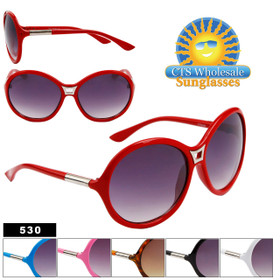 Women's Fashion Sunglasses Wholesale by the Dozen - Style # 530