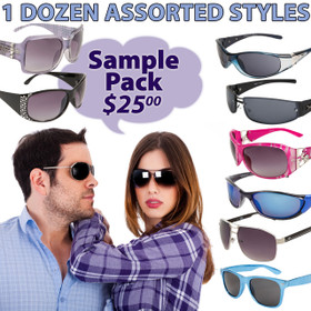 Package Deal 12 Pair Assorted Adult Sunglasses SPA1 (12 pcs.) (Assorted Colors)