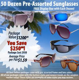 50 Dozen Package Deal | Assorted Sunglasses