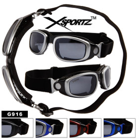 Wholesale Goggles for Sports G916 (Assorted Colors) (12 pcs.)
