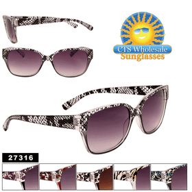 Women's Animal Print Sunglasses by the Dozen - Style #27316 (Assorted Colors) (12 pcs.)